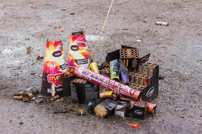 Youths caused mischief with fireworks