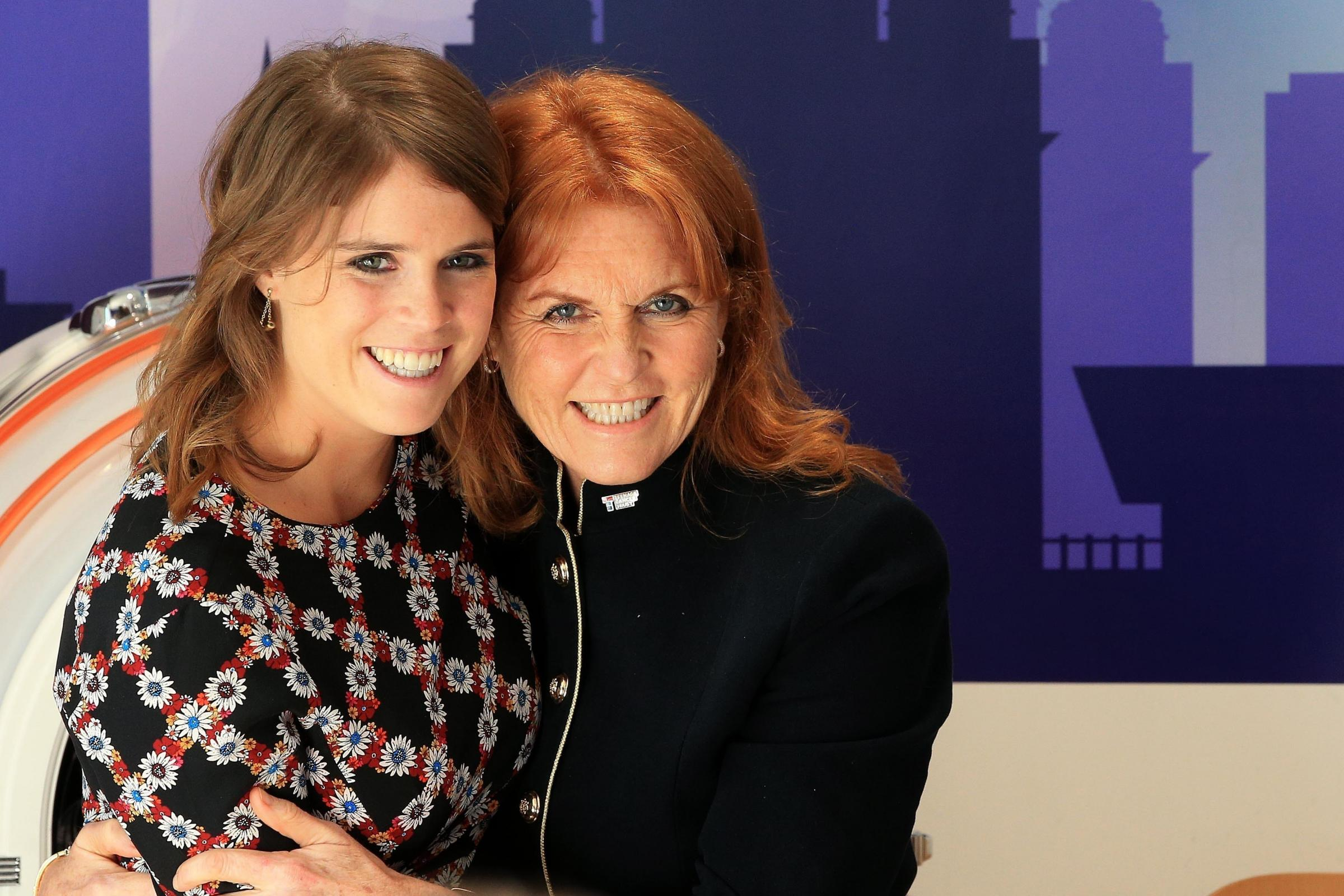 The Duchess of York, Sarah Ferguson and her daughter Princess Eugenie (Peter Byrne/PA)