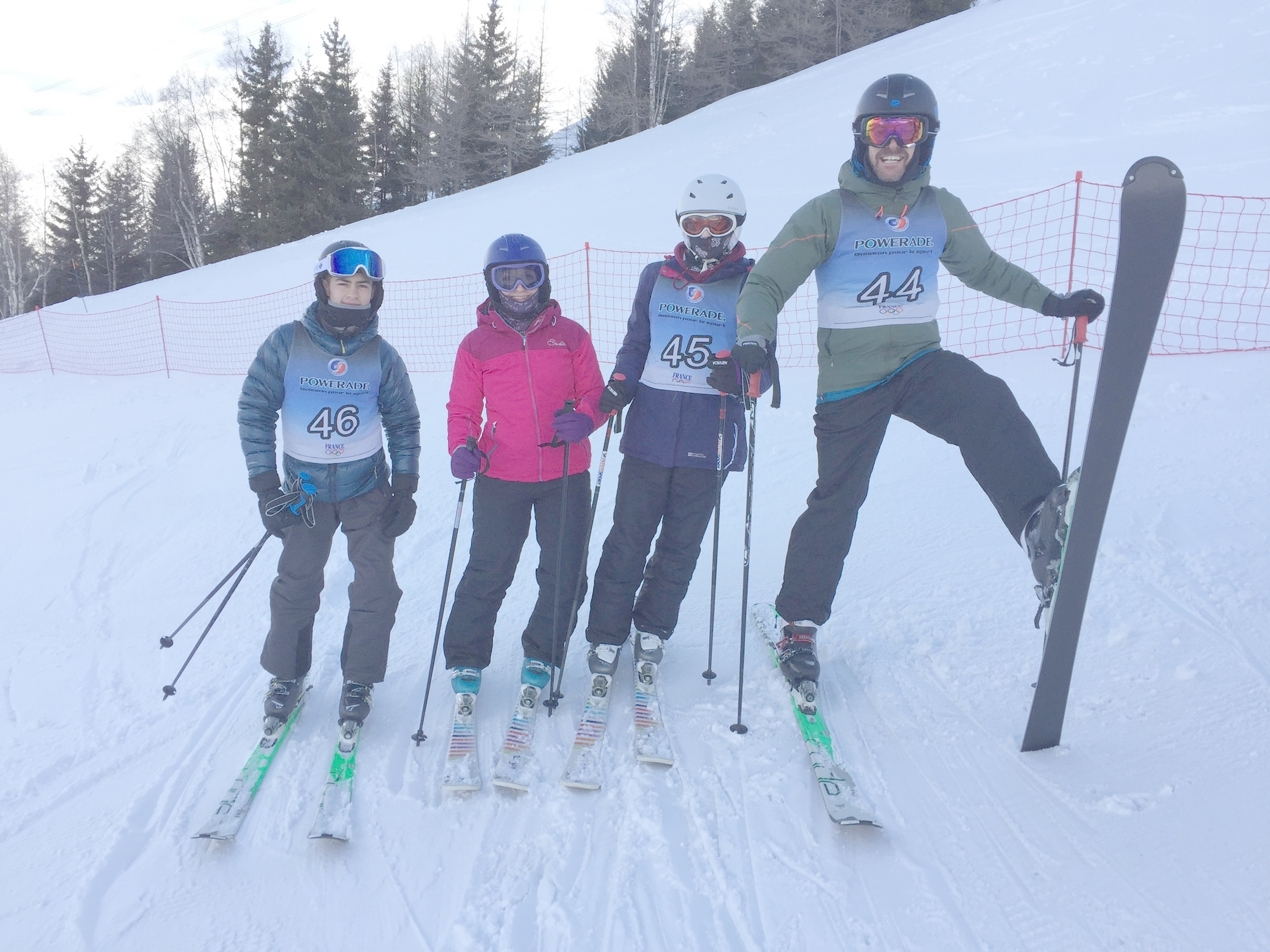 Students spent a week on the French Alps improving their skiing