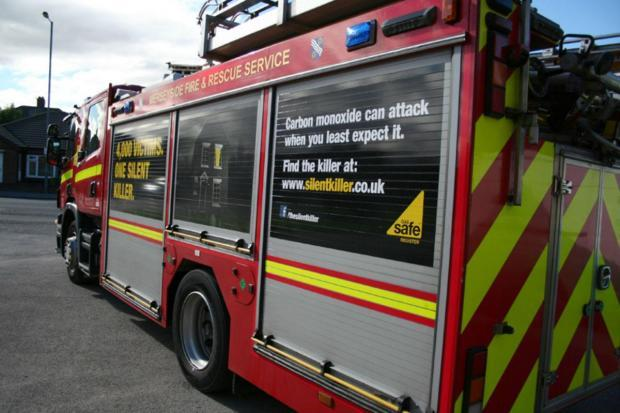 Two fire engines were sent to each of the three incidents