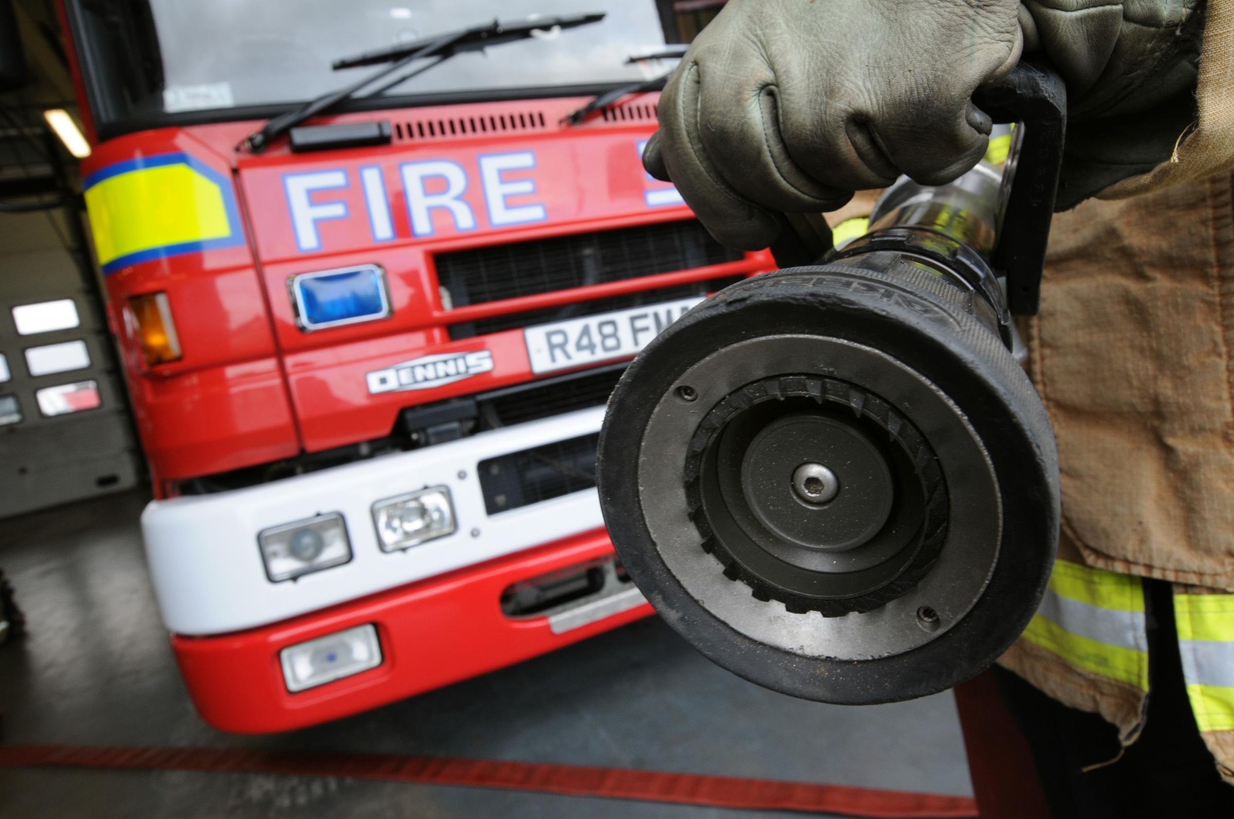 Firefighters tackle motorbike fire on Hale Gate Road in Widnes