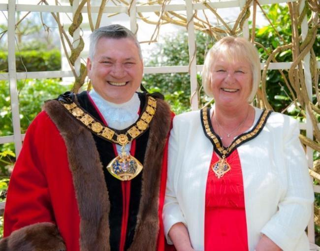 The mayor and mayoress of Halton Cllrs Alan and Joan Lowe
