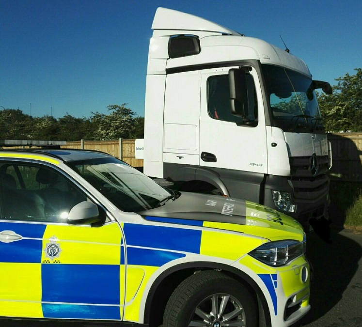 Police caught HGV drivers using mobile phones and not wearing seatbelts during a two week safety campaign on motorways and main roads across Cheshire