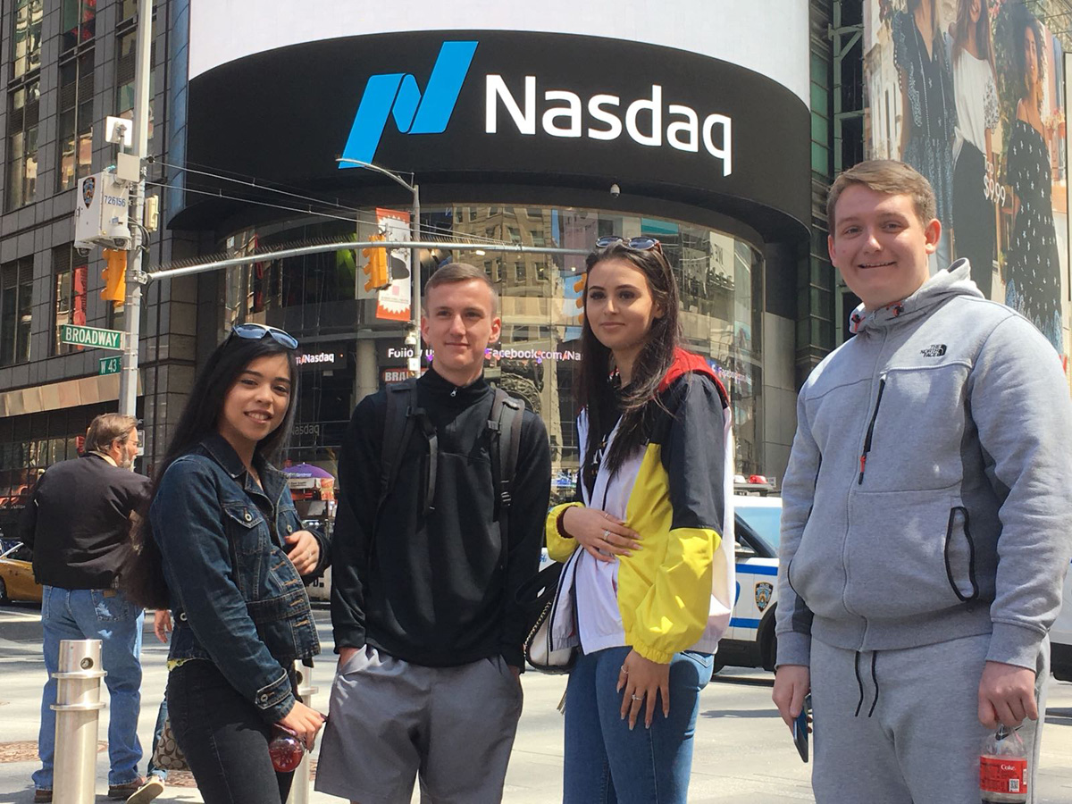 Business students had an interactive tour of Wall Street and the New York Stock Exchange