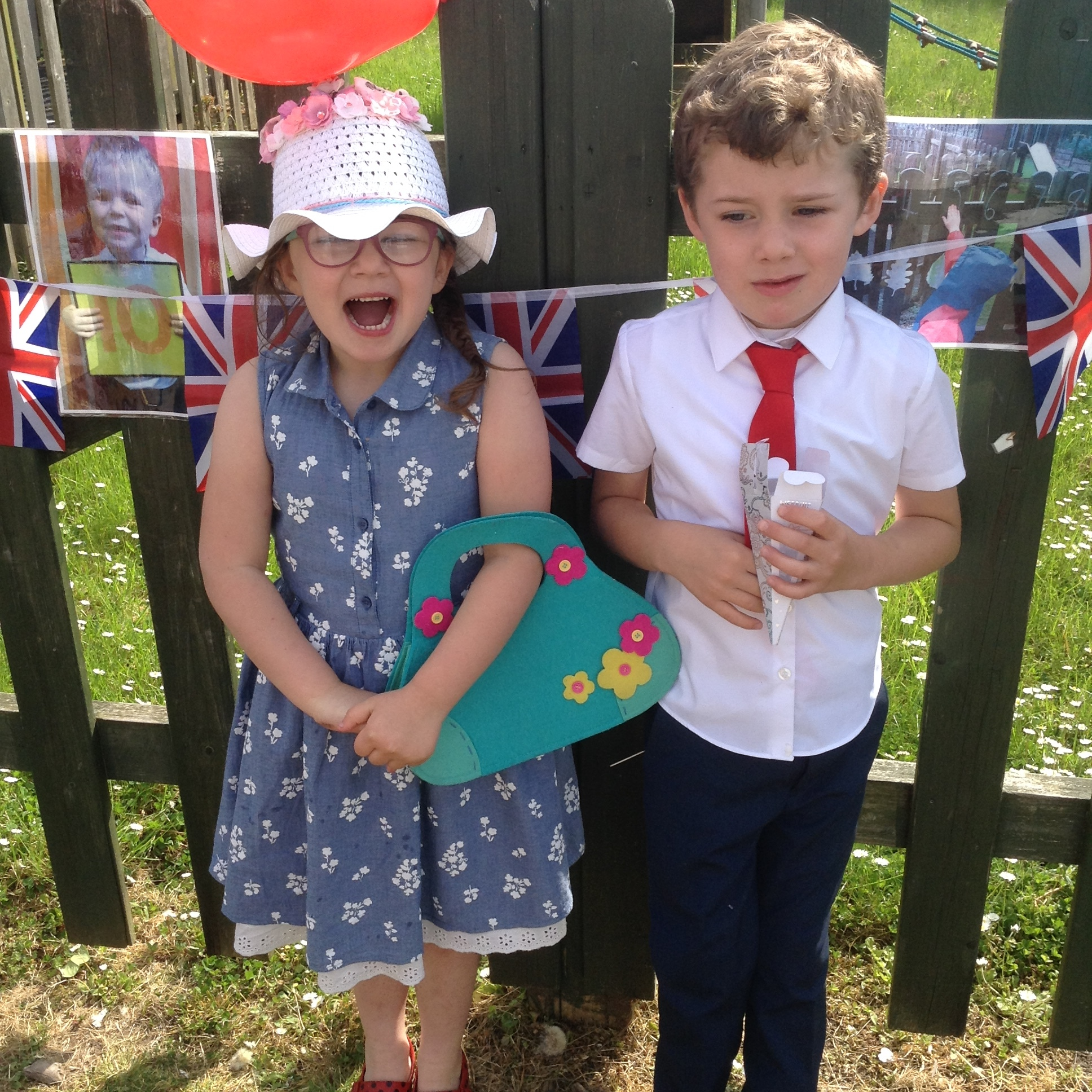 Children dressed up in their best finery at Astmoor Primary School to host their own royal weddings