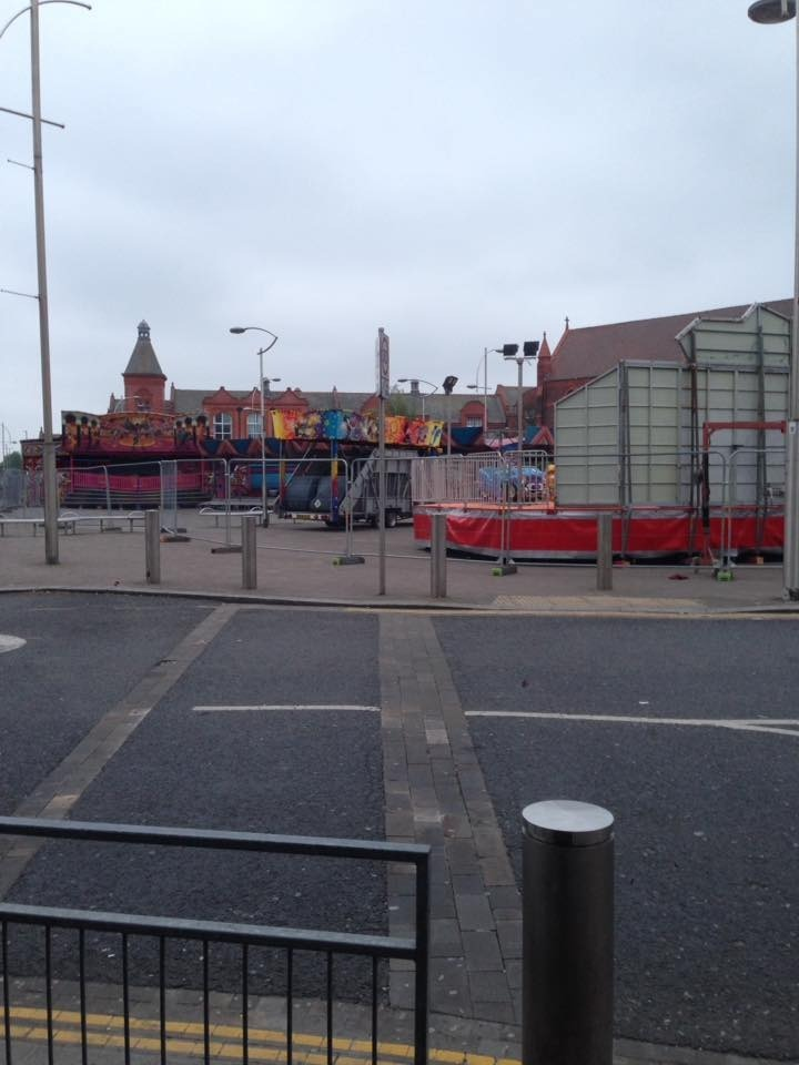 The boss of Cornerhouse Sports Bar said he was shocked to discover a funfair outside his club