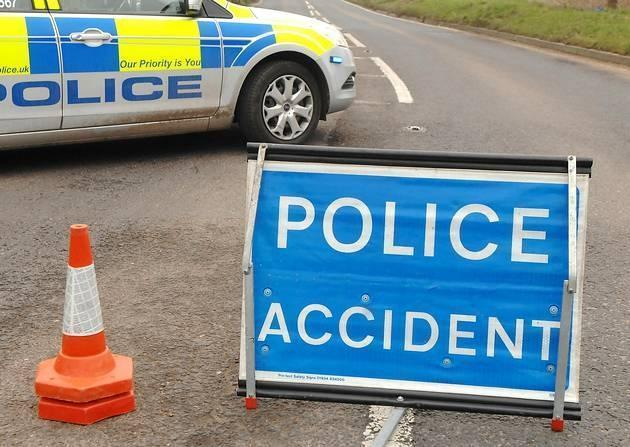 Chapel Lane at the junction of Smithy Lane in Cronton still closed following two car crash
