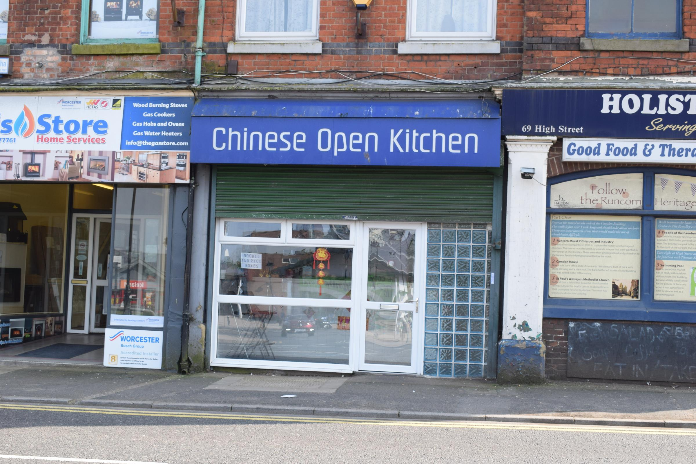 Existing takeaways and takeaway shop fronts\'- Runcorn Old Town