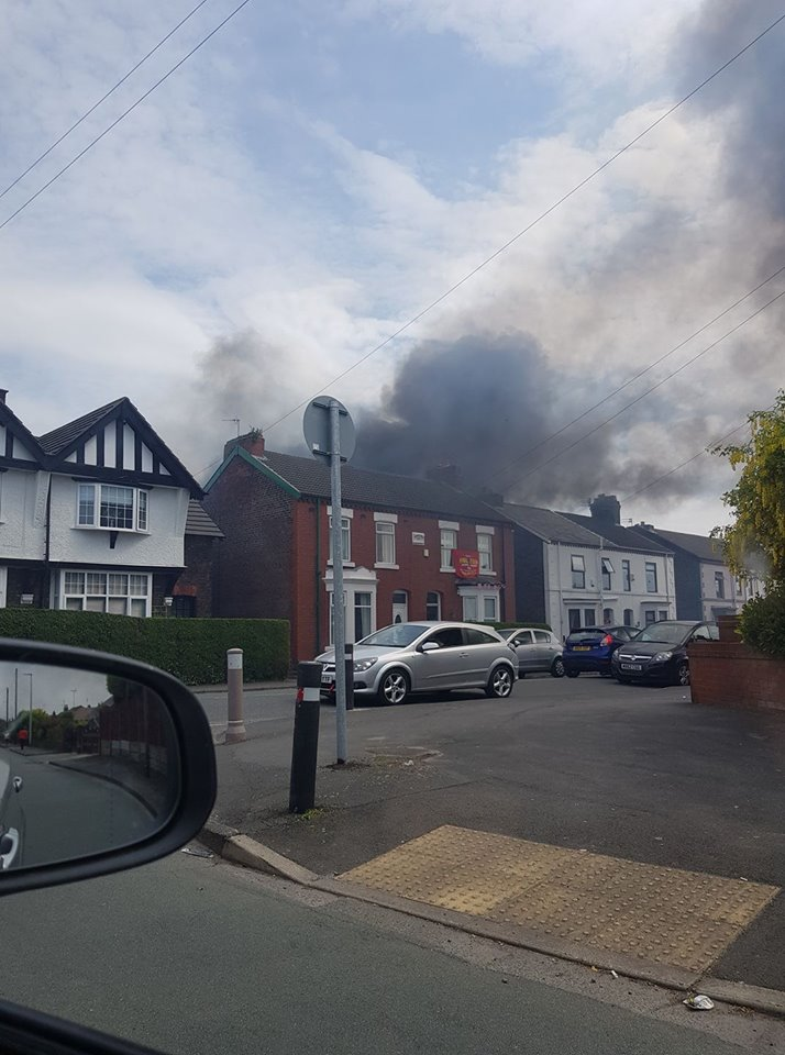 Firefighters tackle fire on Ditchfield Road (Picture: Jak Norton)