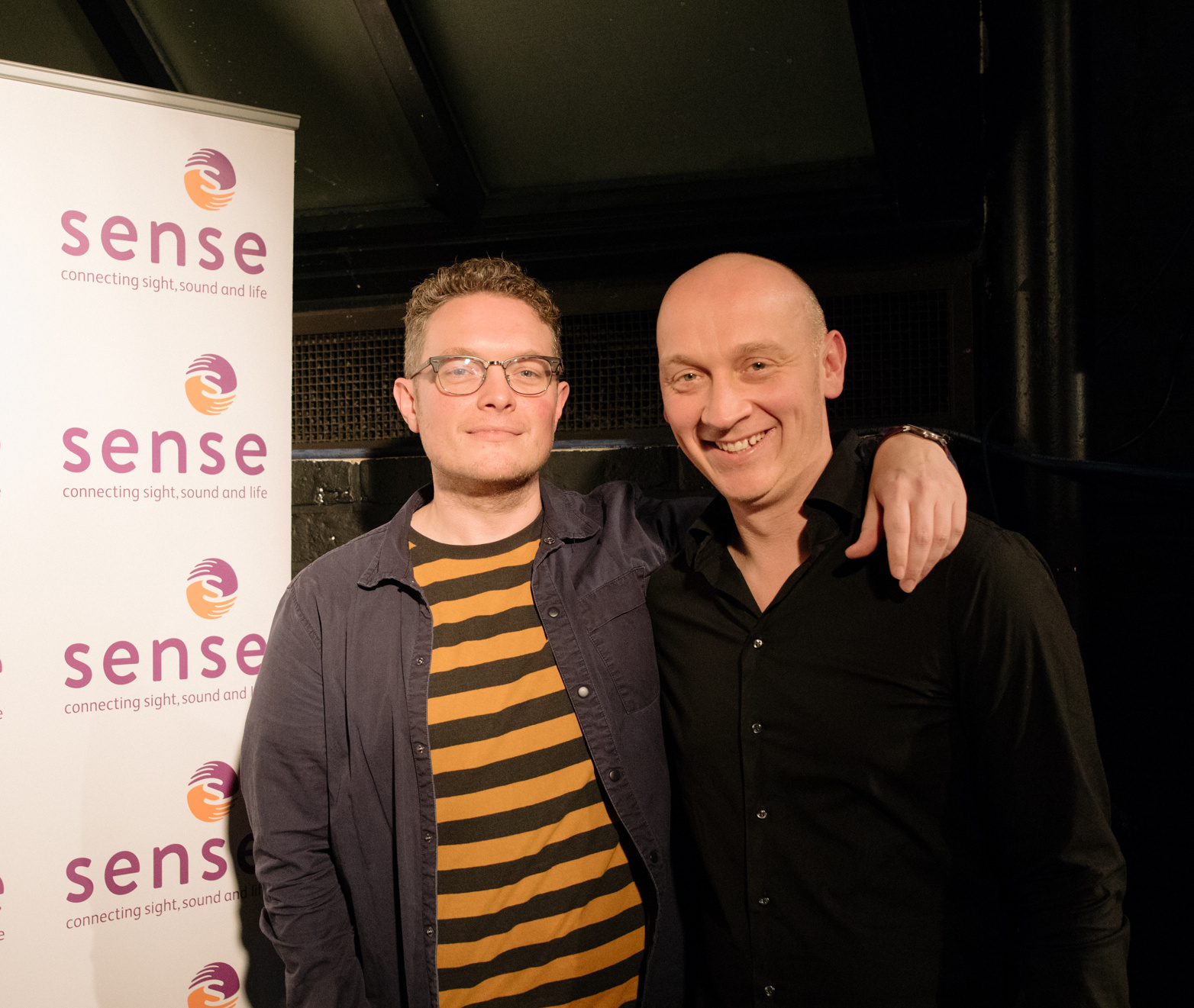 Brothers Stu Mather and Tim Mather have been recognised for their fundraising work for Sense