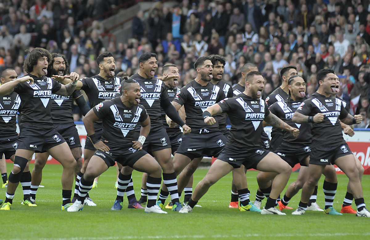 New Zealand Kiwis perform the Haka on their last visit to the UK in 2016. Picture: Mike Boden