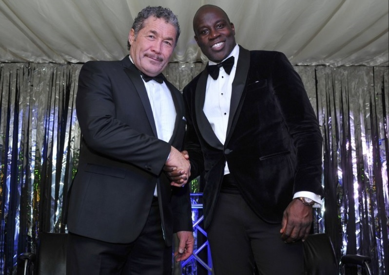 Kurt Sorensen and Martin Offiah. Pic: RLPIX/Ste Jones