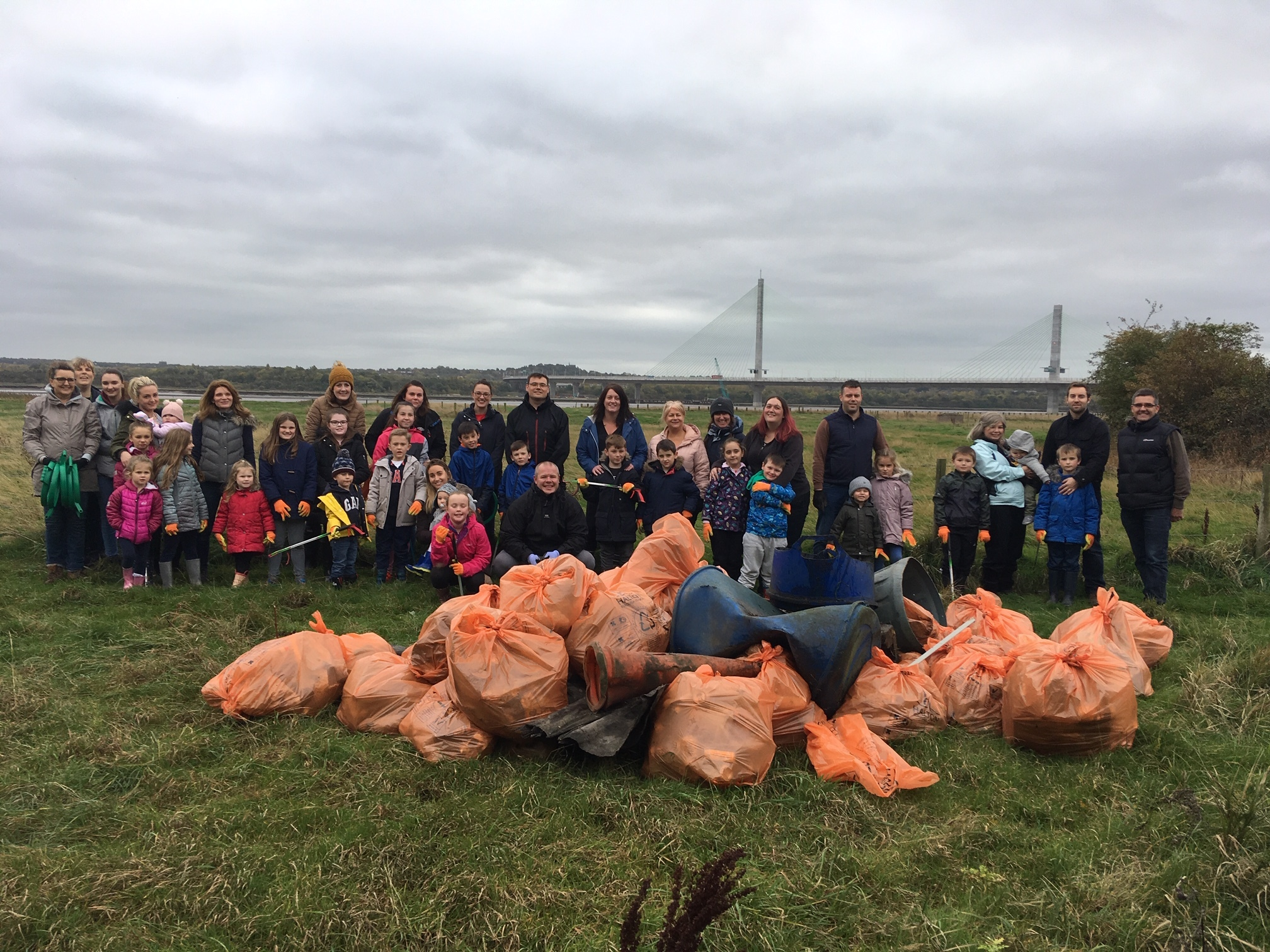 Pupils collect rubbish along River Mersey in bid to reduce plastic pollution