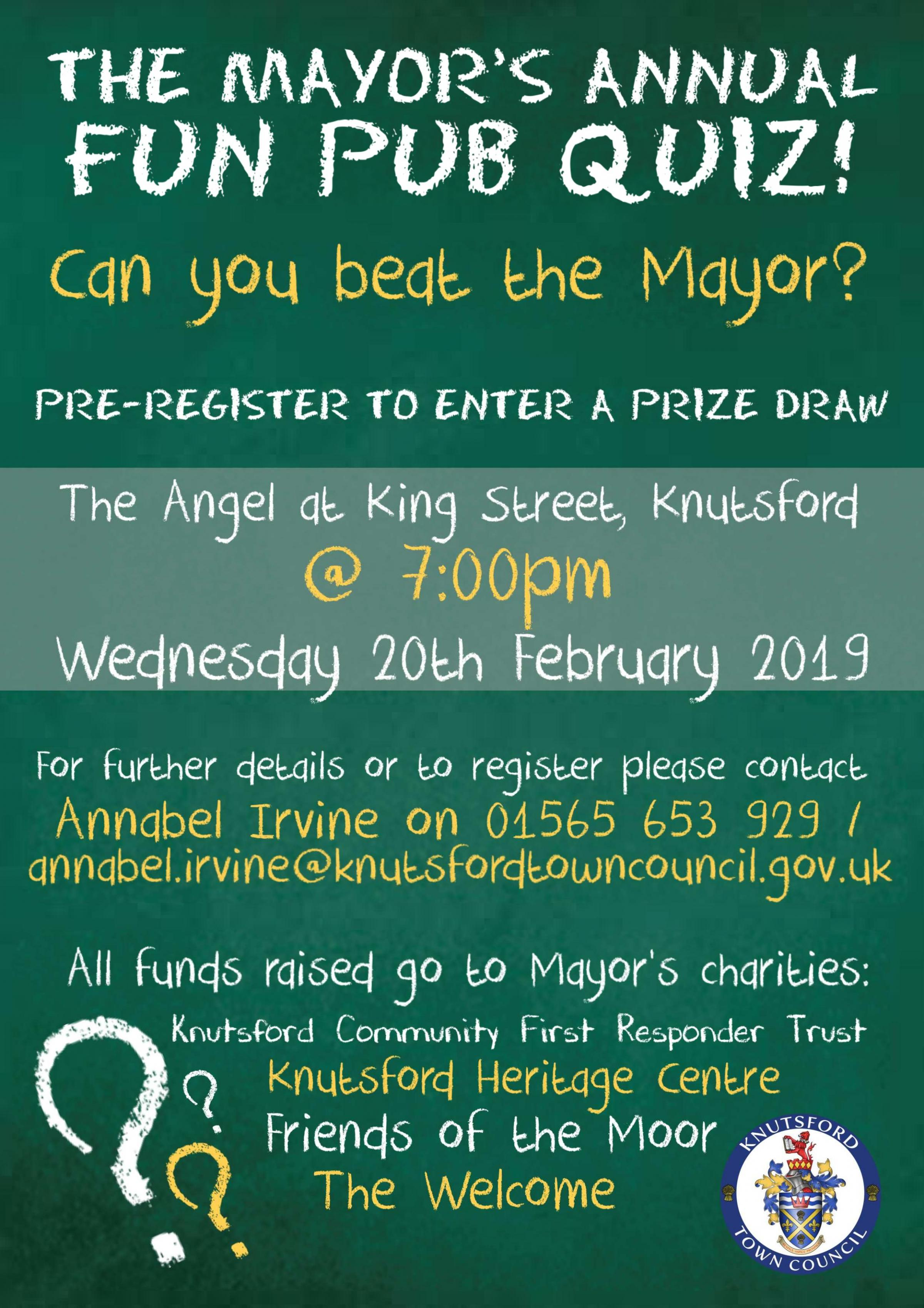 Mayor of Knutsford's Fun Pub Quiz