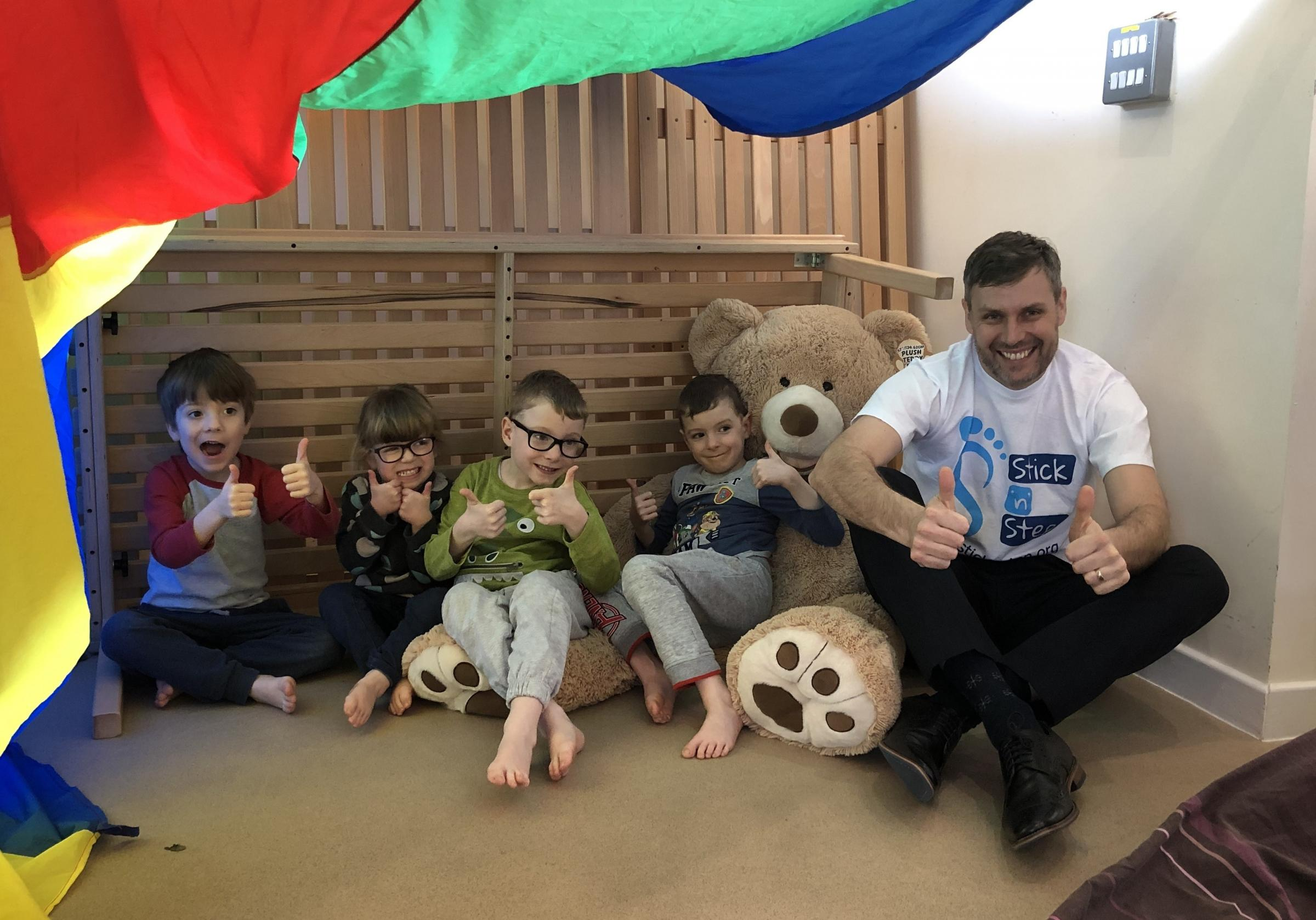 Paul Richards with children from Stick n Step