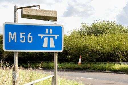The accident has occured on M56