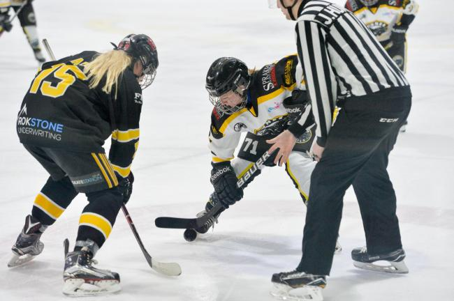 Action from Widnes Wild Women's defeat to Bracknell Firebees. Picture by gw-images
