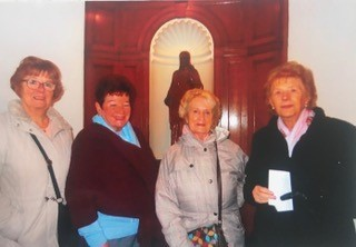 Members of the society during their visit to the ancient Chapel of Toxteth