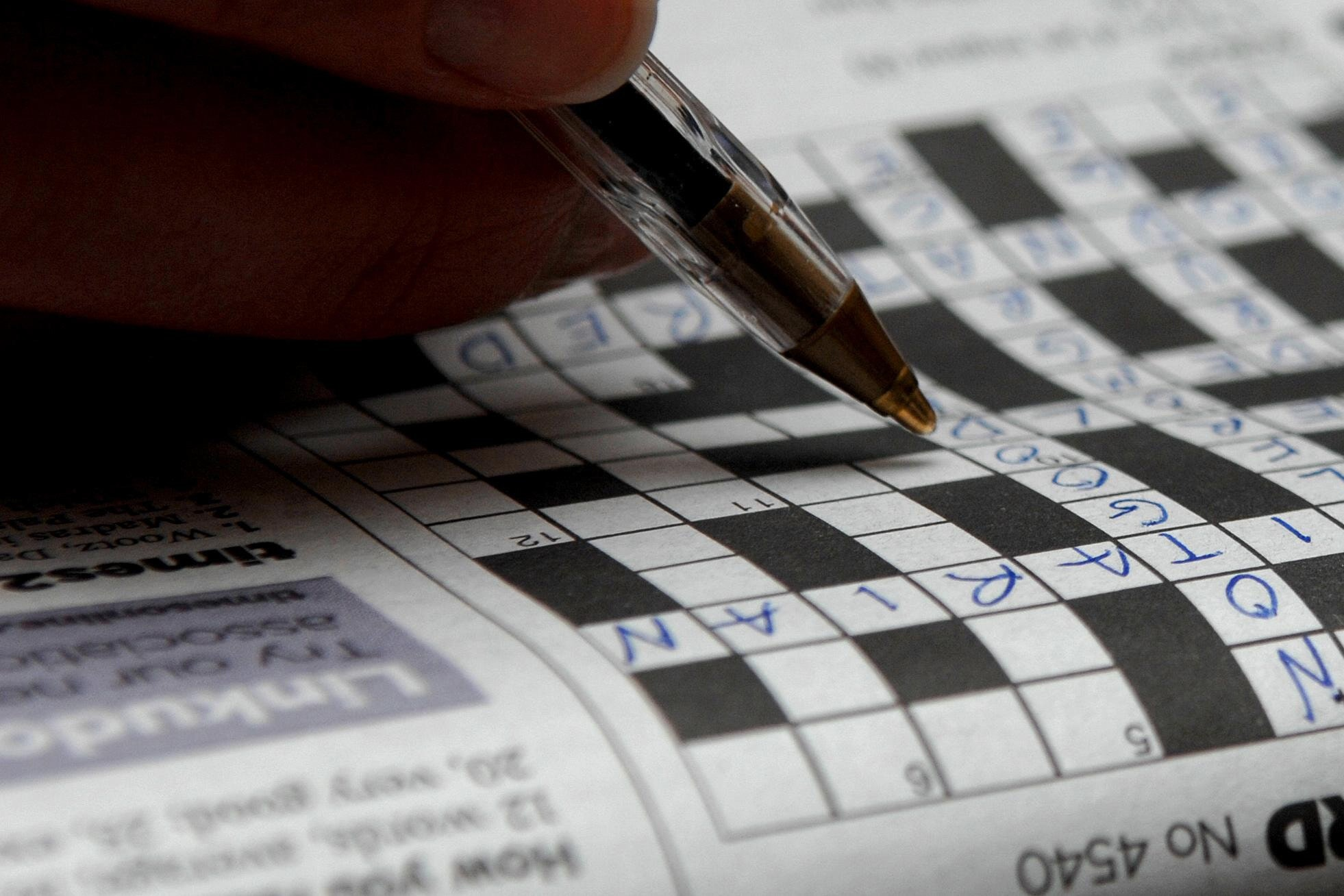 A study suggests older adults who regularly do word and number puzzles have sharper brains