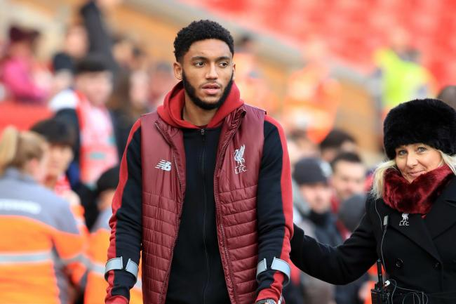Liverpool's Joe Gomez admits it hurt having to watch from the sidelines while he was injured