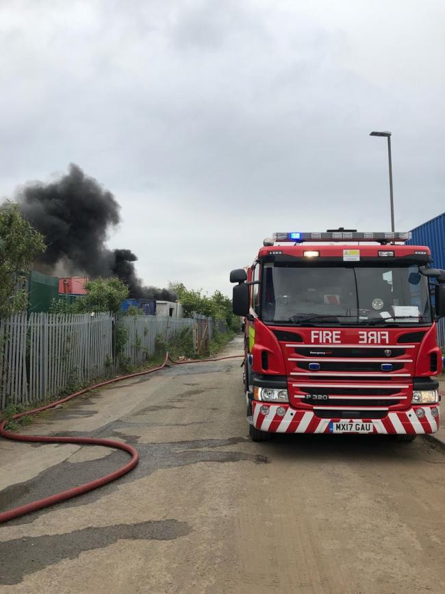 200 tyres on fire causes thick black smoke across Widnes