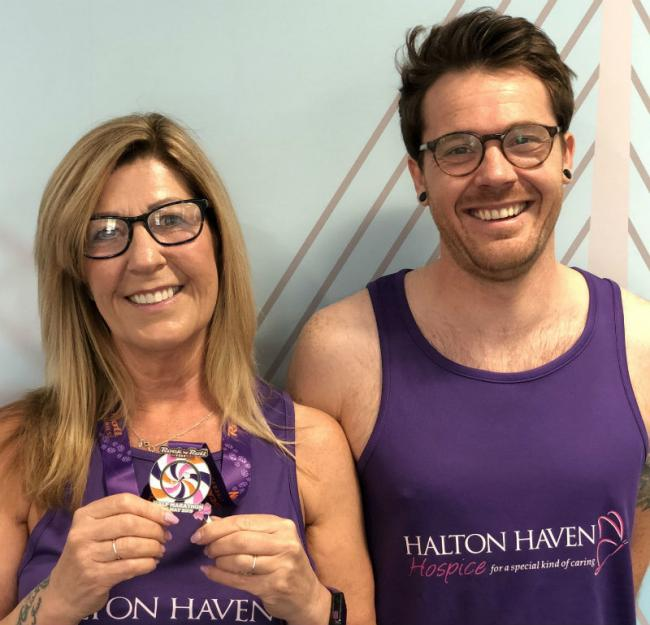Merseyflow fundraisers Janet Cook and Ben Crossley